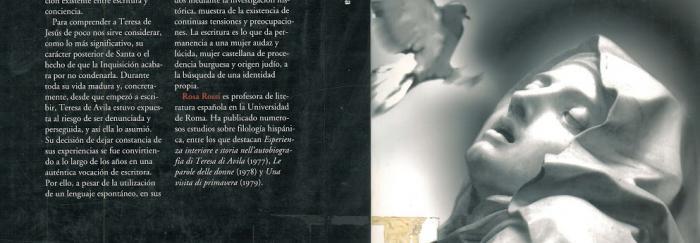 """05. Rosa ROSSI (1997). """"Teresa de Ávila : biografía de una escritora"""". Barcelona : Icaria."""