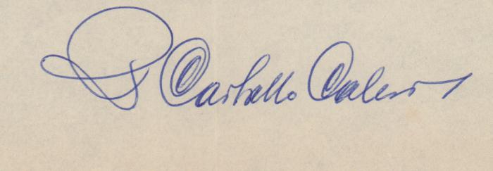 Signatura de Ricardo Carvalho Calero