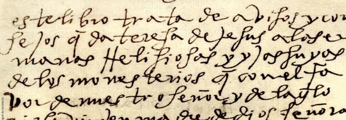 """01. TERESA DE JESÚS (1965). """"Camino de perfección"""" (fragmento). [Roma] : Tipografia Poliglotta Vaticana."""