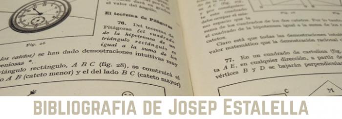 Bibliografia de Josep Estalella