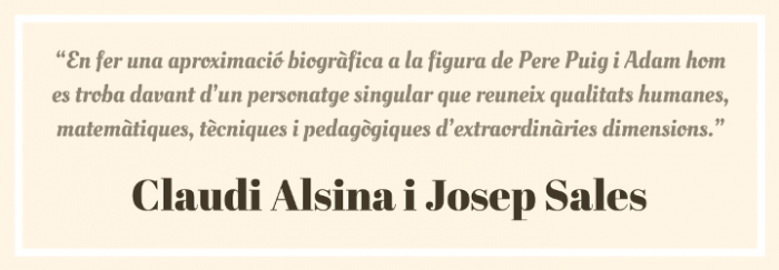 Cita Claudi Alsina i Josep Sales 1