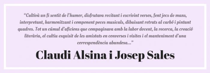 Cita Claudi Alsina i Josep Sales 2