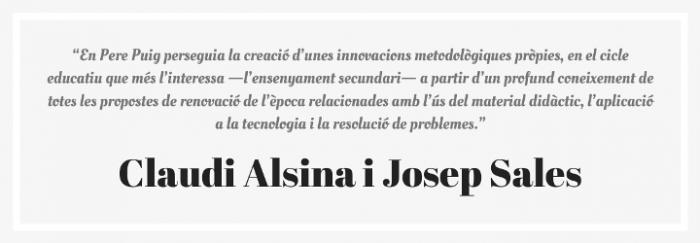 Cita Claudi Alsina i Josep Sales 3