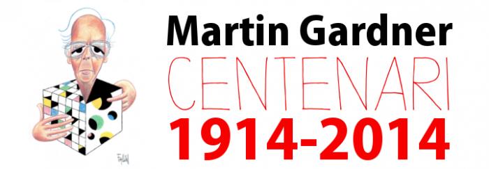 Cartell de l'exposició virtual Martin Gardner: Centenari, 1914-2014