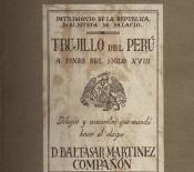 Trujillo del Perú a fines del siglo XVIII